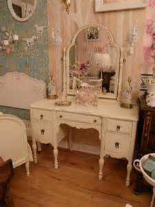 antique vanity shabby chic make up dressing table ivory