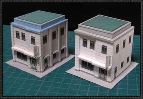 Building Papercraft - n scale papercraftsquare free papercraft page 2