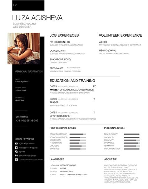 resume template psd 25 modern and wonderful psd resume templates free