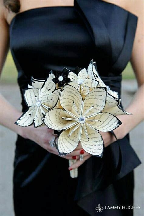 Bouquet With Paper - paper wedding bouquet commitment ceremony