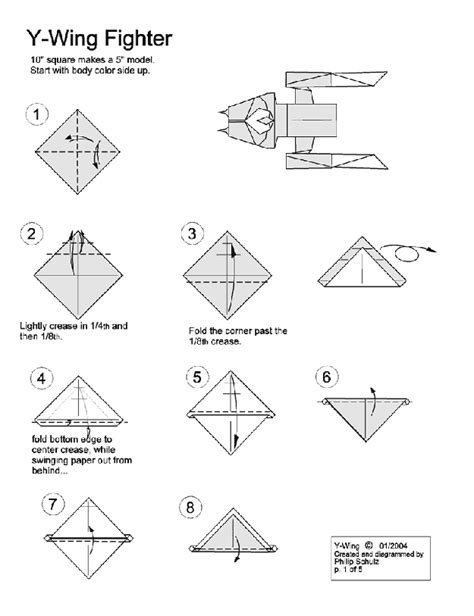 How To Make A Paper X Wing Fighter - paper origami x wing comot