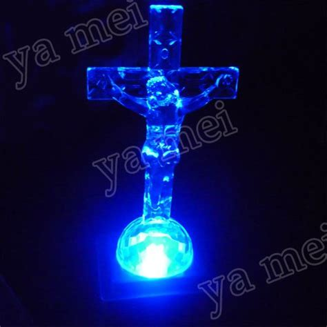 led jesus decoration freeshipping bless this home led light up cross light base decoration on aliexpress