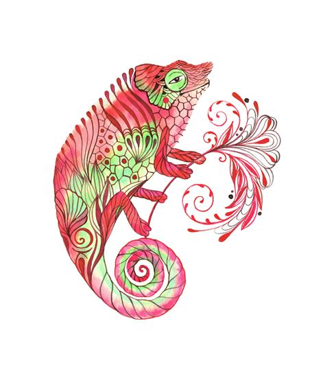 chameleon tattoo designs commissioned