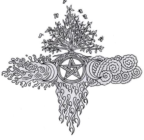 wiccan elemental e a cross by lilmoongodess on deviantart