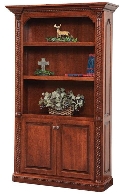 Lexington Solid Wood Bookcase by DutchCrafters Amish Furniture