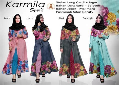 Model Baju Muslim Gamis Terbaru Dan Modern Set Kulot Graces Kuning gamis terbaru karmila set model baju gamis terbaru