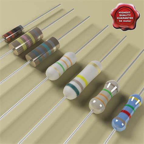 sensitive resistor 3d model resistors modelled 3d obj