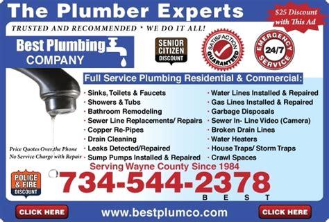 Detroit Plumbing Services by Best Plumbing Best1 Rooter Wayne County Mi Metro Detroit