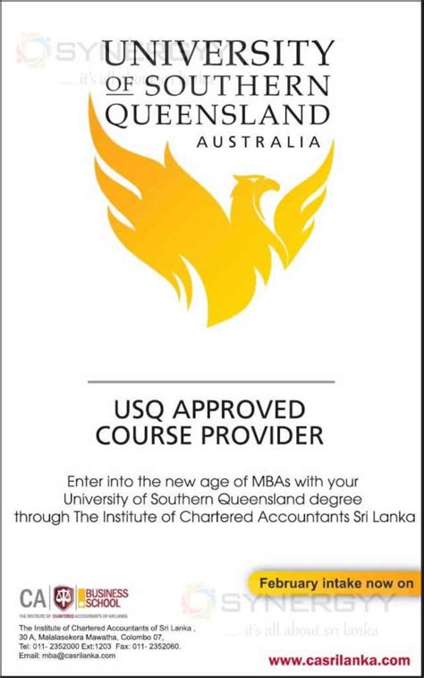 Of Southern Australia Mba of southern queensland mba in sri lanka