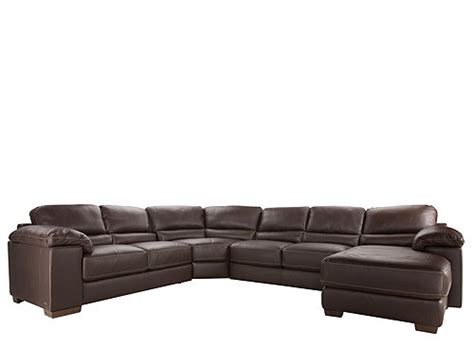 cindy crawford sectional cindy crawford maglie 4 pc leather sectional sofa