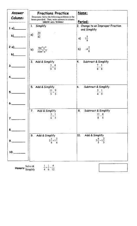 16 Best Images Of Pre Algebra Integers Worksheets Pre