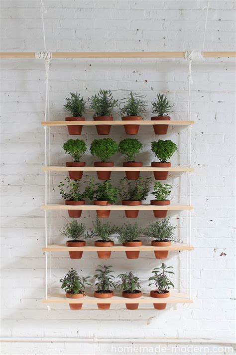 Hanging Herb Planter by 65 Inspiring Diy Herb Gardens Shelterness