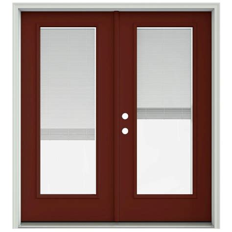 Jeld Wen Patio Doors Jeld Wen 72 In X 80 In Mesa Prehung Right Inswing Patio Door With Brickmould