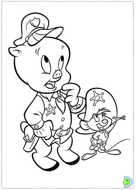 coloring pages porky pig porky pig coloring page dinokids org