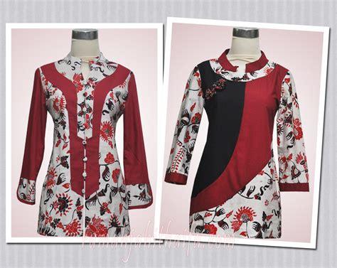 Blouse Katun Ima Kombinasi Batik blouse batik order jahitan ibu yayuk di jakarta rumah