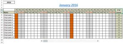 Vacation Tracker Template by Free Excel Leave Tracker Template