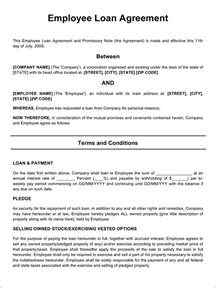 Sle Letter For Loan To Employee The Employee Loan Agreement 2 Can Help You Make A Professional And Document
