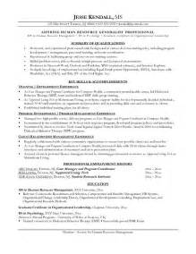 Our 1 top pick for human resources career change resume development