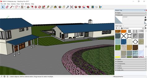 sketchup layout grey background adding colors and textures with materials sketchup
