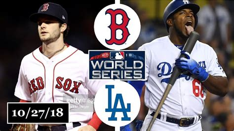 boston red sox  los angeles dodgers highlights world series game  october