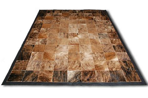 Cowhide Leather Rug by New Cowhide Rug Patchwork Cowskin Cow Hide Leather Carpet