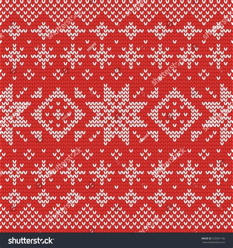 perfect pattern password christmas knitting seamless pattern red white stock vector