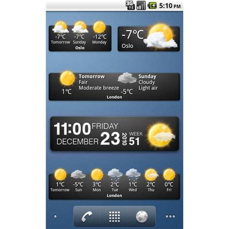 weather widgets for android the best android weather widget options