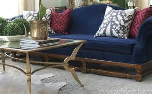cobalt blue sofa amanda carol interiors