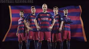 Fc barcelona 2015 2016 hooped nike home and away football kit soccer