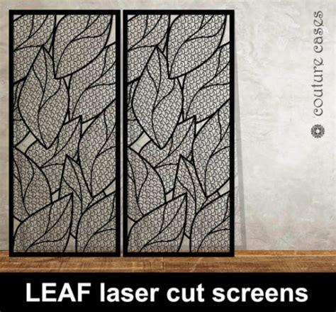 leaf pattern metal screen leaf laser cut metal perforated fretwork laser cut