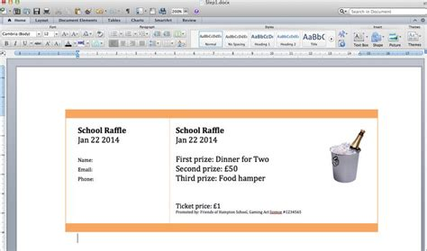 ticket template for apple pages 10 best images about raffle ticket templates ideas on