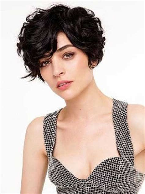 cute short haircuts for thick hair wavy hair 15 short curly hair for round faces short hairstyles