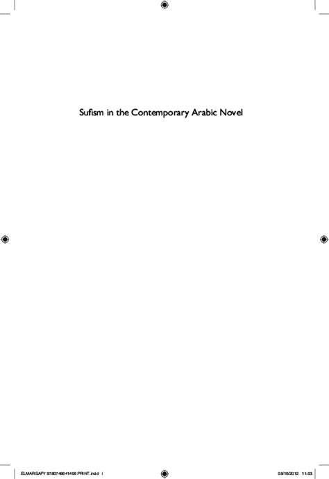 Pdf Sufism In The Contemporary Arabic Novel Ziad