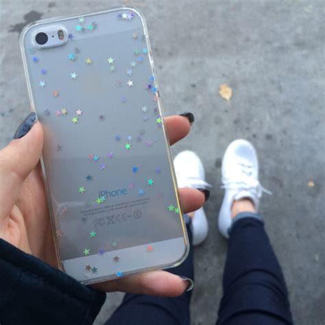 Look Like A Iphone 6 Softcase For Iphone 5 5s Se 6 phone cover iphone iphone 5 iphone 5 glitter clear soft grunge