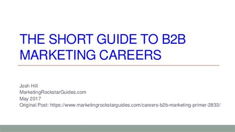 careering the pocket guide to exploring your future career books guide to b2b marketing careers and roles