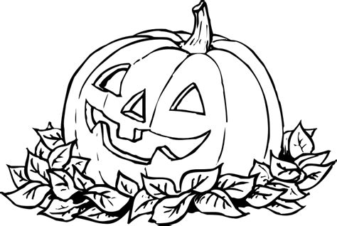 pumpkin leaf coloring pages pumpkin in leaves bw holiday halloween pumpkin more