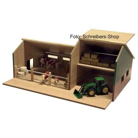 siku stall bauernhof stall mit schuppen holz siku traktoren 907306 ebay