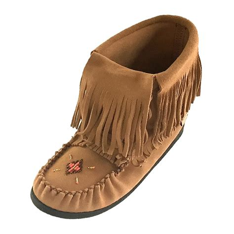 beaded moccasin boots s genuine moka suede moccasin boots with fold