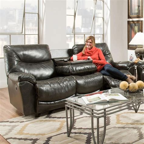 franklin reclining sofa with drop down table franklin calloway 45744 reclining sofa with drop down