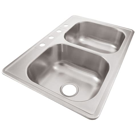 shop elkay 33 in x 22 in radiant basin stainless