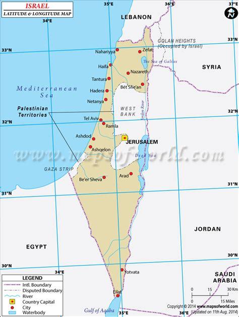 map of jerusalem israel latitude and longitude map
