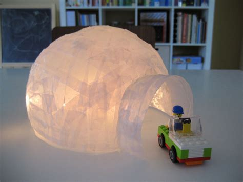 Paper Mache Craft - vellum paper mache diy craft igloo pictures