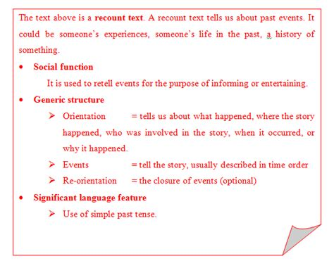 recount text english for pleasure recount text english wall