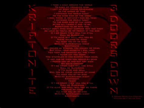 3 Doors Kryptonite Lyrics by 3dd Wallpaper