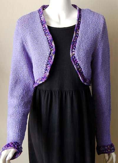 bolero patterns to knit knitting patterns bolero with lace edging knitting pattern