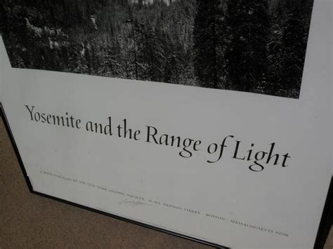 ansel adams yosemite and the range of light poster ansel adams 1902 1984 hand signed black and white poster