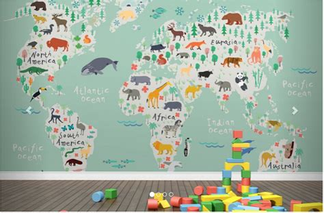 Safari Map Mural Wallpaper Muralswallpaper - aliexpress buy custom papel de parede infantil