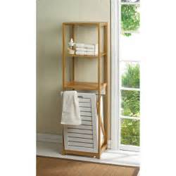bamboo shelving bathroom home locomotion bamboo shelf with built in clothes