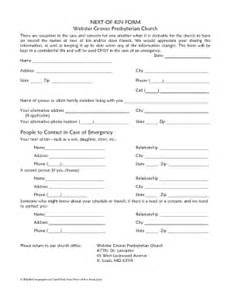 Next Of Kin Form Template by Next Of Kin Form Fill Printable Fillable Blank