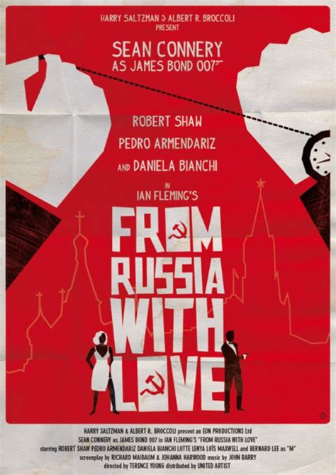 james bond from russia with love saul bass style from russia with love poster